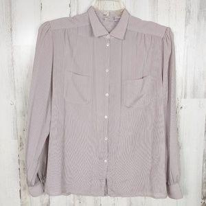 🌿 Vintage Liz Claiborne Button Down Blouse Shirt
